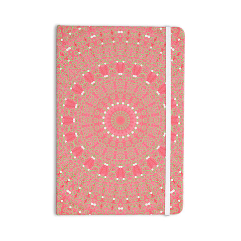 "Sylvia Cook ""Boho Hearts Coral"" Pink Orange Everything Notebook - KESS InHouse  - 1"