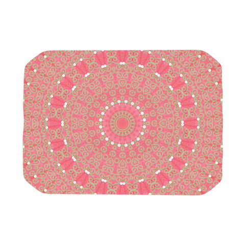 "Sylvia Cook ""Boho Hearts Coral"" Pink Orange Place Mat - KESS InHouse"
