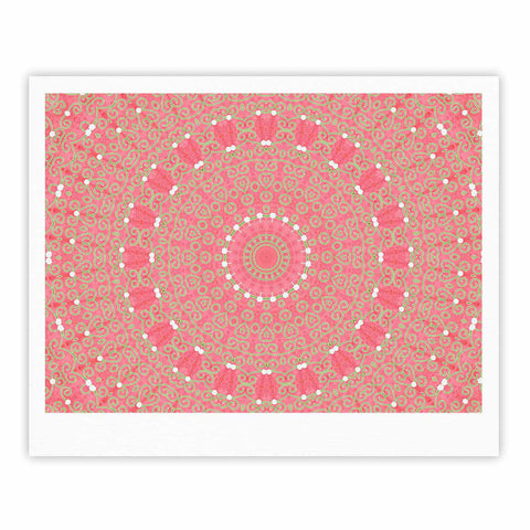 "Sylvia Cook ""Boho Hearts Coral"" Pink Orange Fine Art Gallery Print - KESS InHouse"