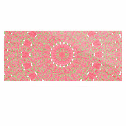 "Sylvia Cook ""Boho Hearts Coral"" Pink Orange Luxe Rectangle Panel - KESS InHouse  - 1"