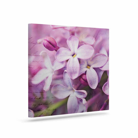 "Sylvia Cook ""French Lilacs"" Purple Photography Canvas Art - KESS InHouse  - 1"