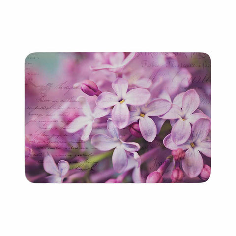 "Sylvia Cook ""French Lilacs"" Purple Photography Memory Foam Bath Mat - KESS InHouse"