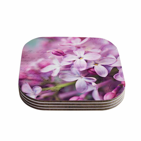 "Sylvia Cook ""French Lilacs"" Purple Photography Coasters (Set of 4)"