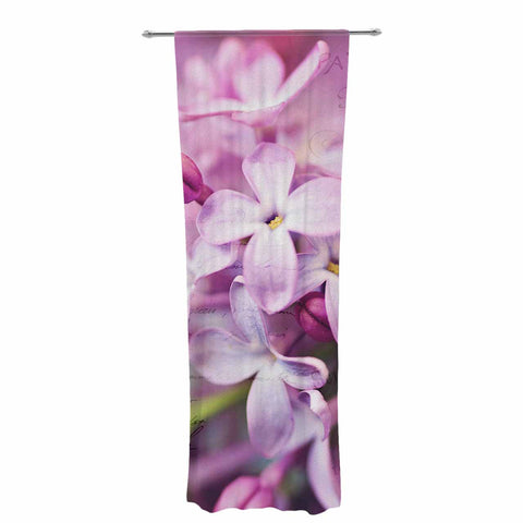 "Sylvia Cook ""French Lilacs"" Purple Photography Decorative Sheer Curtain - KESS InHouse  - 1"