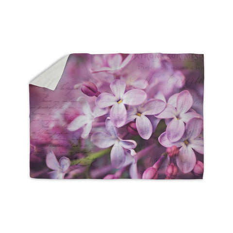 "Sylvia Cook ""French Lilacs"" Purple Photography Sherpa Blanket - KESS InHouse  - 1"