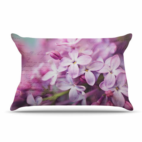"Sylvia Cook ""French Lilacs"" Purple Photography Pillow Sham - KESS InHouse  - 1"