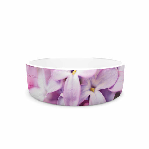 "Sylvia Cook ""French Lilacs"" Purple Photography Pet Bowl - KESS InHouse"