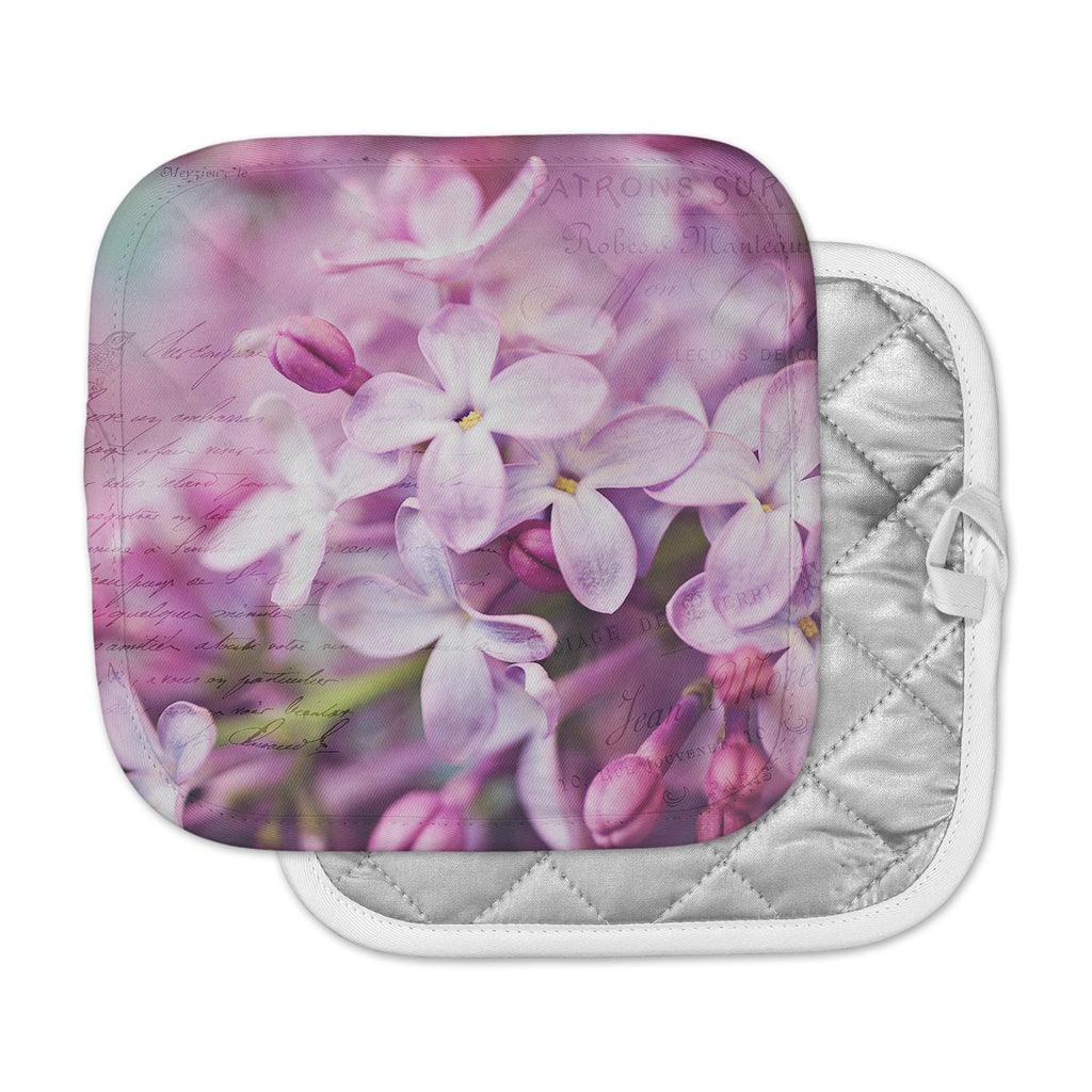 "Sylvia Cook ""French Lilacs"" Purple Photography Pot Holder"