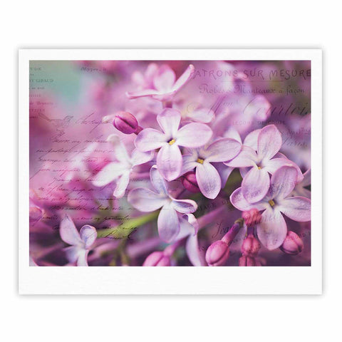 "Sylvia Cook ""French Lilacs"" Purple Photography Fine Art Gallery Print - KESS InHouse"