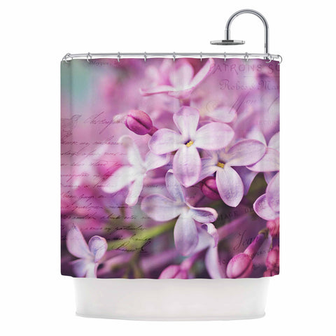 "Sylvia Cook ""French Lilacs"" Purple Photography Shower Curtain - KESS InHouse"
