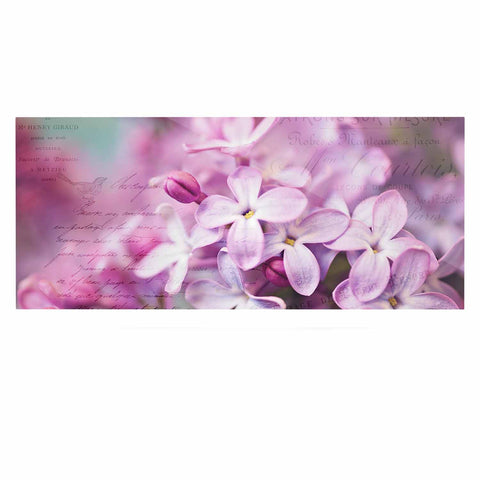 "Sylvia Cook ""French Lilacs"" Purple Photography Luxe Rectangle Panel - KESS InHouse  - 1"