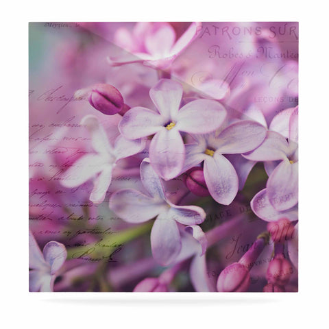 "Sylvia Cook ""French Lilacs"" Purple Photography Luxe Square Panel - KESS InHouse  - 1"