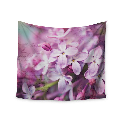 "Sylvia Cook ""French Lilacs"" Purple Photography Wall Tapestry - KESS InHouse  - 1"