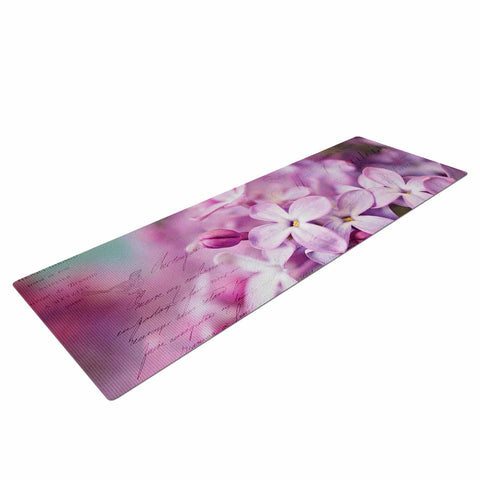 "Sylvia Cook ""French Lilacs"" Purple Photography Yoga Mat - KESS InHouse  - 1"