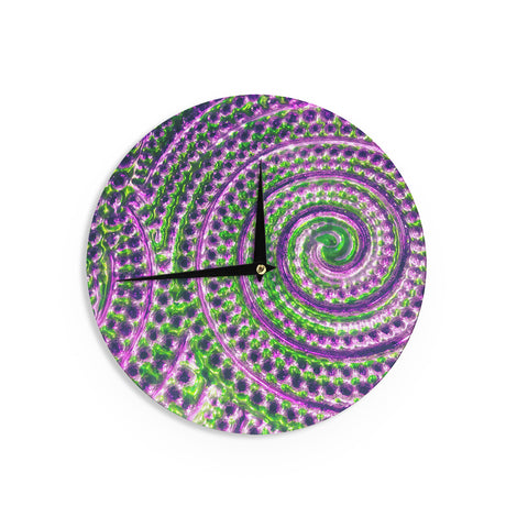 "Sylvia Cook ""Color Inspiration"" Green Purple Wall Clock - KESS InHouse"