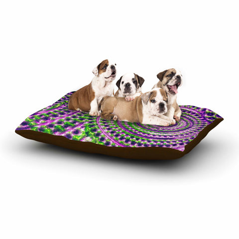 "Sylvia Cook ""Color Inspiration"" Green Purple Dog Bed - KESS InHouse  - 1"