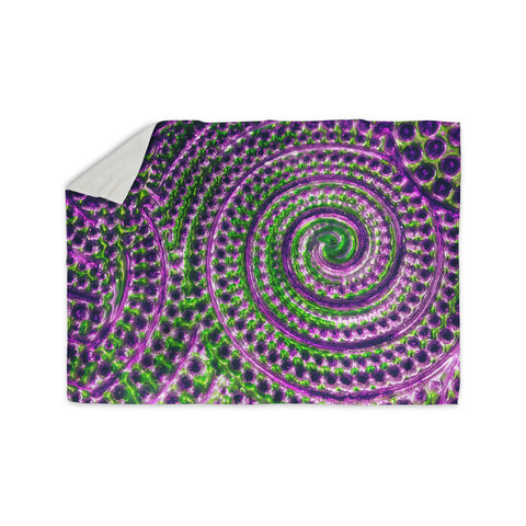 "Sylvia Cook ""Color Inspiration"" Green Purple Sherpa Blanket - KESS InHouse  - 1"