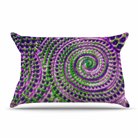 "Sylvia Cook ""Color Inspiration"" Green Purple Pillow Sham - KESS InHouse  - 1"