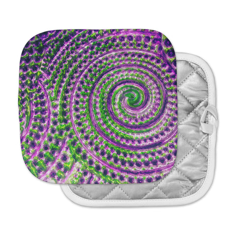 "Sylvia Cook ""Color Inspiration"" Green Purple Pot Holder"