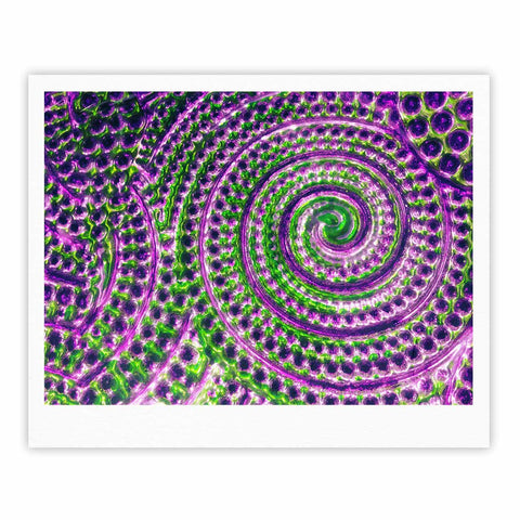 "Sylvia Cook ""Color Inspiration"" Green Purple Fine Art Gallery Print - KESS InHouse"