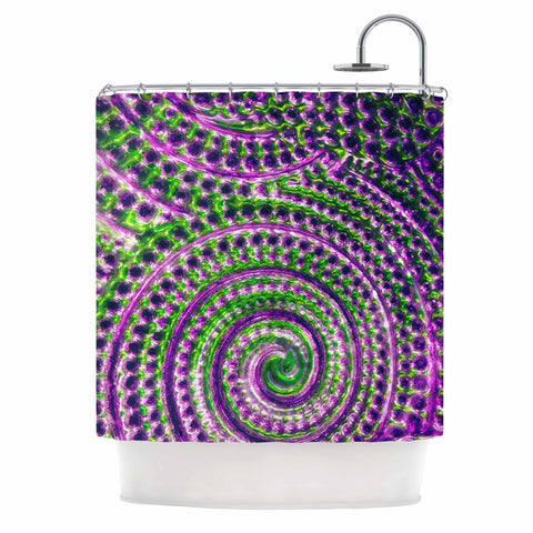 "Sylvia Cook ""Color Inspiration"" Green Purple Shower Curtain - KESS InHouse"