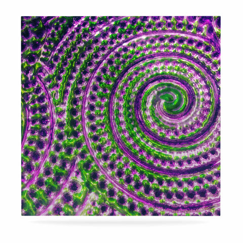 "Sylvia Cook ""Color Inspiration"" Green Purple Luxe Square Panel - KESS InHouse  - 1"