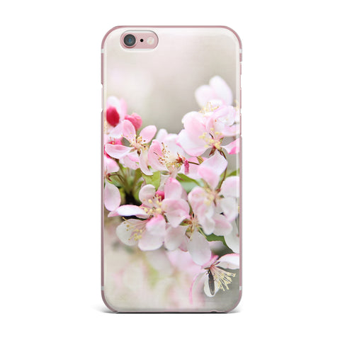 "Sylvia Cook ""April Flowers"" Pink White iPhone Case - KESS InHouse"