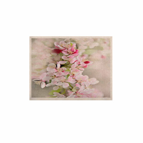 "Sylvia Cook ""April Flowers"" Pink White KESS Naturals Canvas (Frame not Included) - KESS InHouse  - 1"