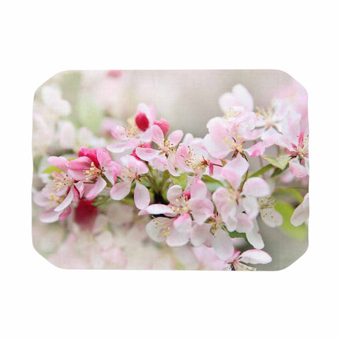 "Sylvia Cook ""April Flowers"" Pink White Place Mat - KESS InHouse"