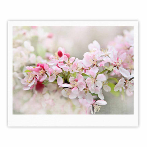 "Sylvia Cook ""April Flowers"" Pink White Fine Art Gallery Print - KESS InHouse"