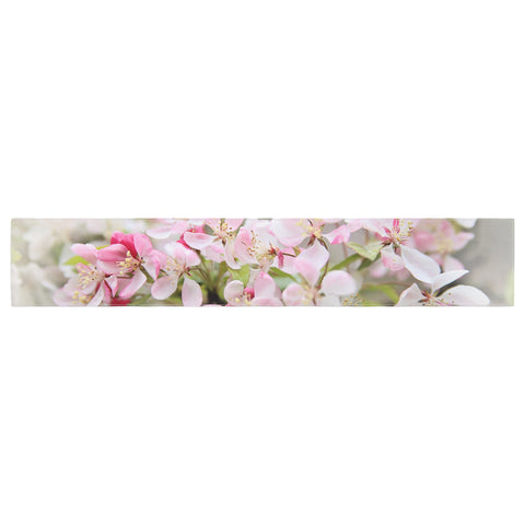 "Sylvia Cook ""April Flowers"" Pink White Table Runner - KESS InHouse  - 1"