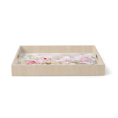 "Sylvia Cook ""April Flowers""  Birchwood Tray"