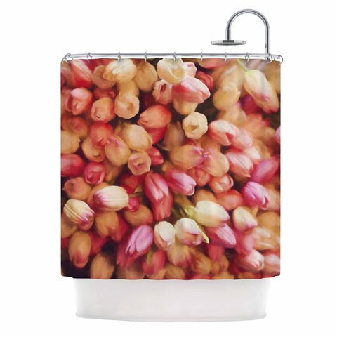 "Sylvia Cook ""Tulips"" Orange Yellow Photography Shower Curtain"