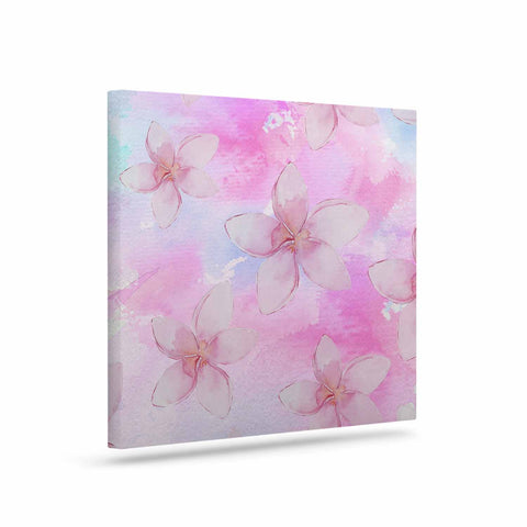 "Sylvia Cook ""Pastel Plumerias"" Pink Purple Digital Canvas Art"