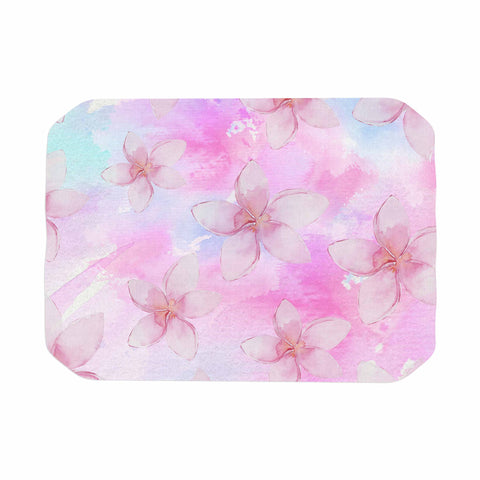 "Sylvia Cook ""Pastel Plumerias"" Pink Purple Digital Place Mat"