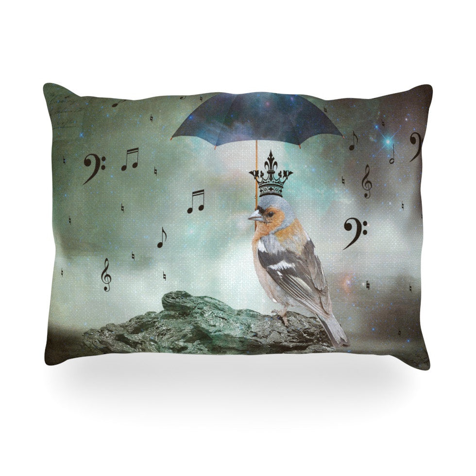 "Suzanne Carter ""Umbrella Bird"" Oblong Pillow - KESS InHouse"
