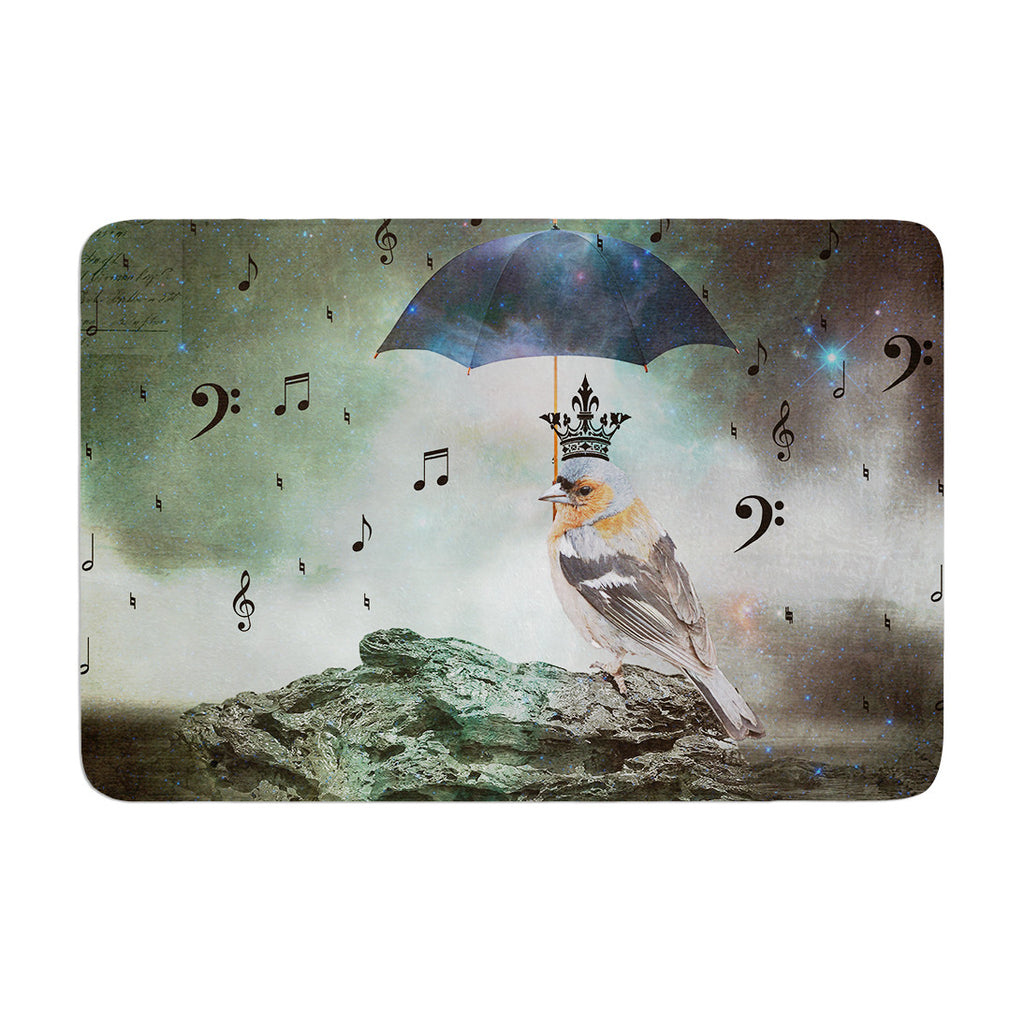 "Suzanne Carter ""Umbrella Bird"" Memory Foam Bath Mat - KESS InHouse"