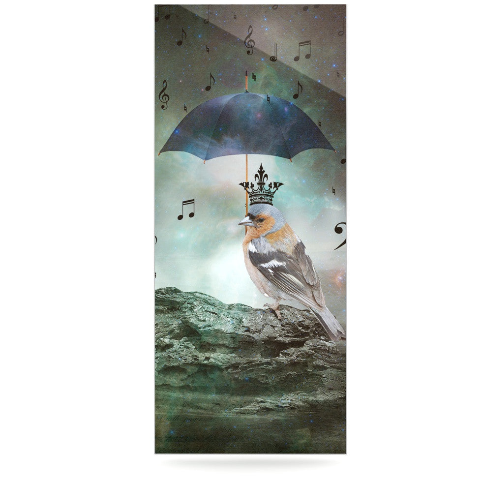 "Suzanne Carter ""Umbrella Bird"" Luxe Rectangle Panel - KESS InHouse  - 1"