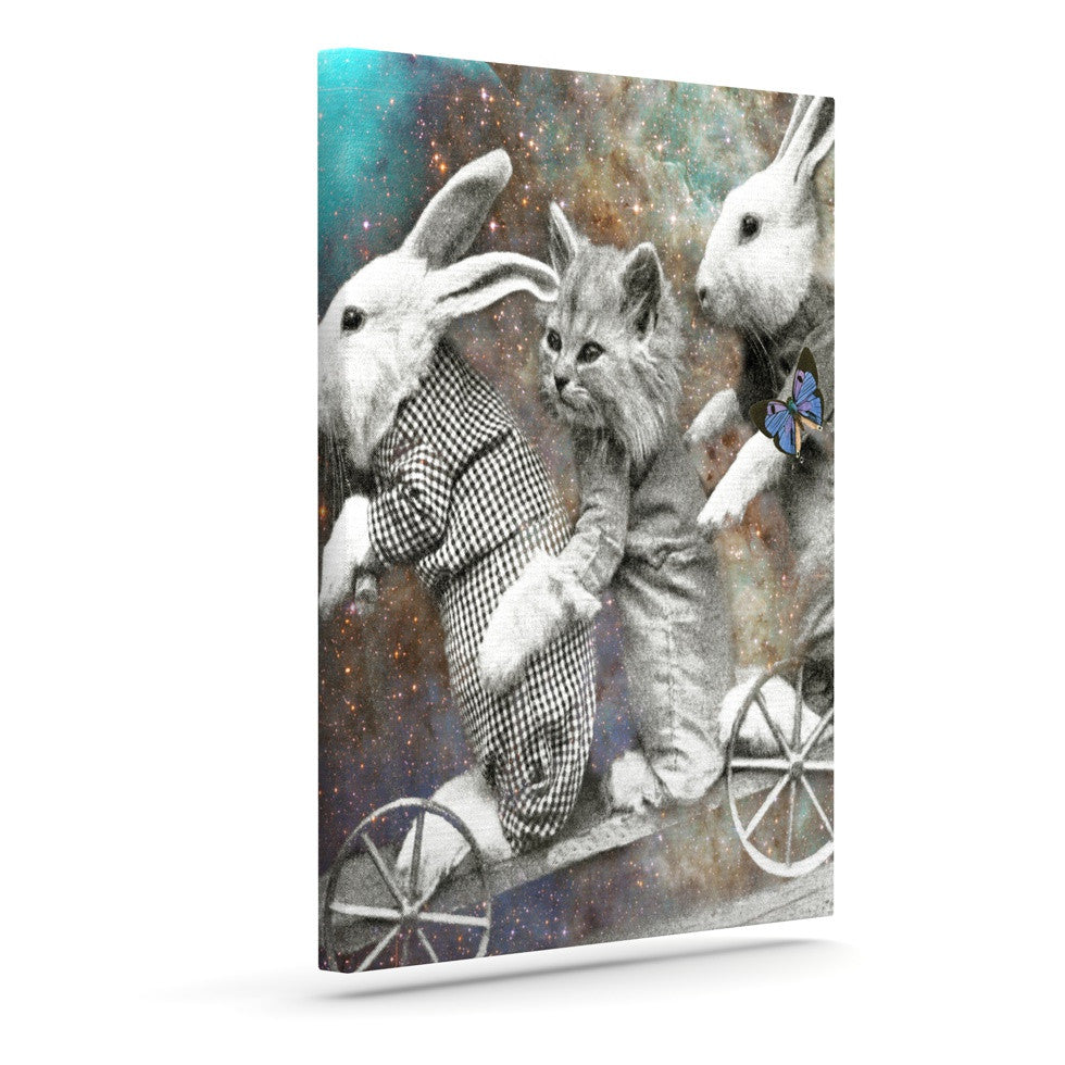"Suzanne Carter ""Space Travel"" Outdoor Canvas Wall Art - KESS InHouse  - 1"