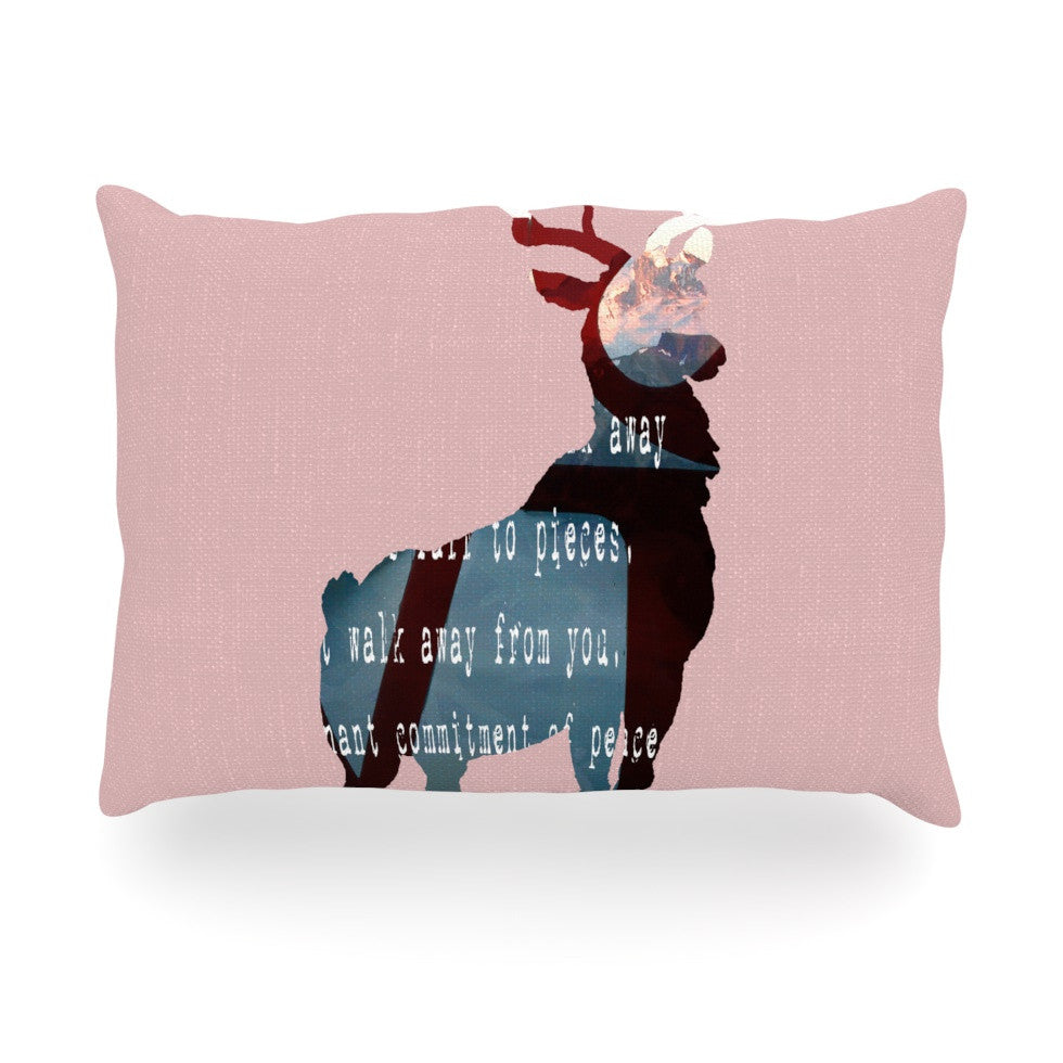 "Suzanne Carter ""Oh Deer"" Oblong Pillow - KESS InHouse"
