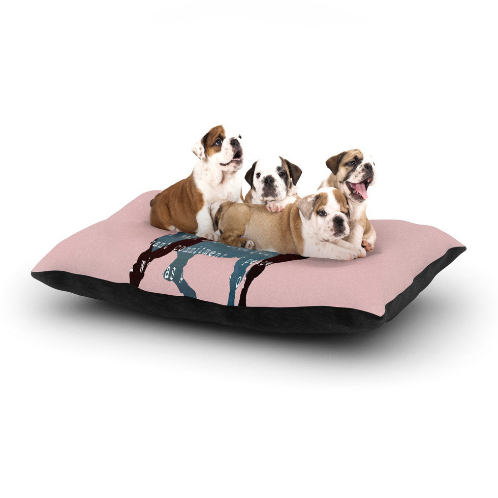 "Suzanne Carter ""Oh Deer"" Dog Bed - KESS InHouse  - 1"