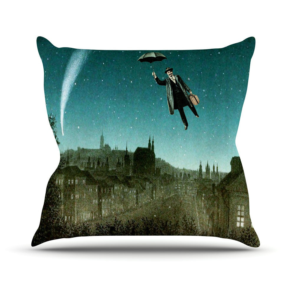 "Suzanne Carter ""The Departure"" Outdoor Throw Pillow - KESS InHouse  - 1"