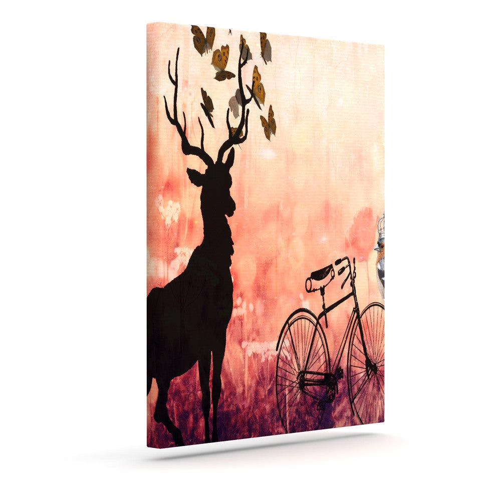 "Suzanne Carter ""Vintage Forest"" Outdoor Canvas Wall Art - KESS InHouse  - 1"