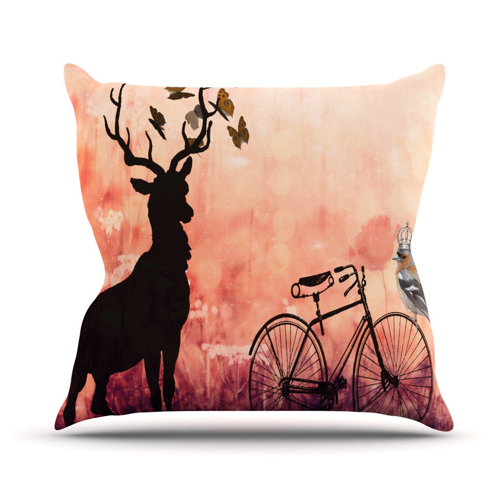 "Suzanne Carter ""Vintage Forest"" Throw Pillow - KESS InHouse  - 1"