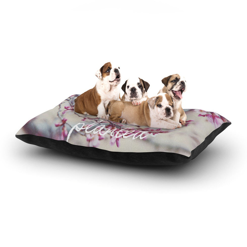 "Suzanne Carter ""Bloom Pink"" Dog Bed - KESS InHouse  - 1"