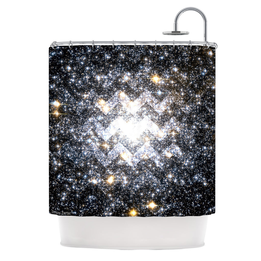 "Suzanne Carter ""Messier Chevron"" Shower Curtain - KESS InHouse"