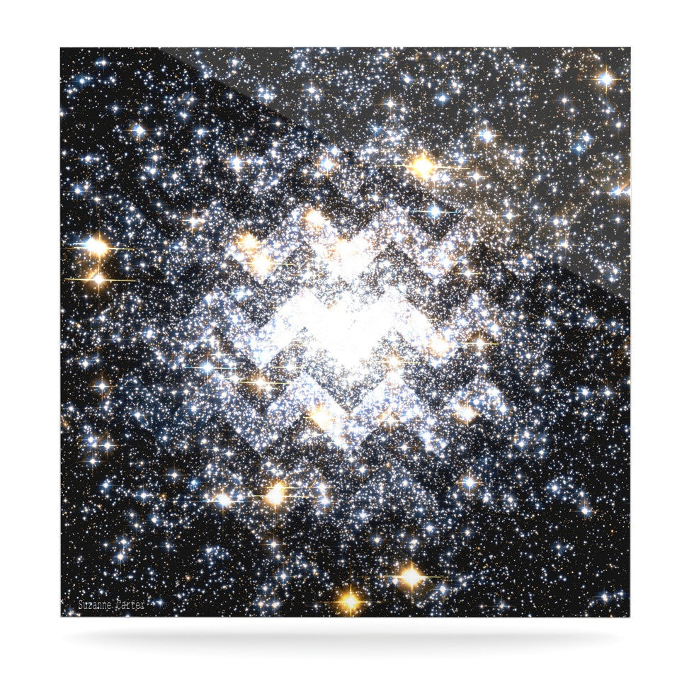 "Suzanne Carter ""Messier Chevron"" Luxe Square Panel - KESS InHouse  - 1"