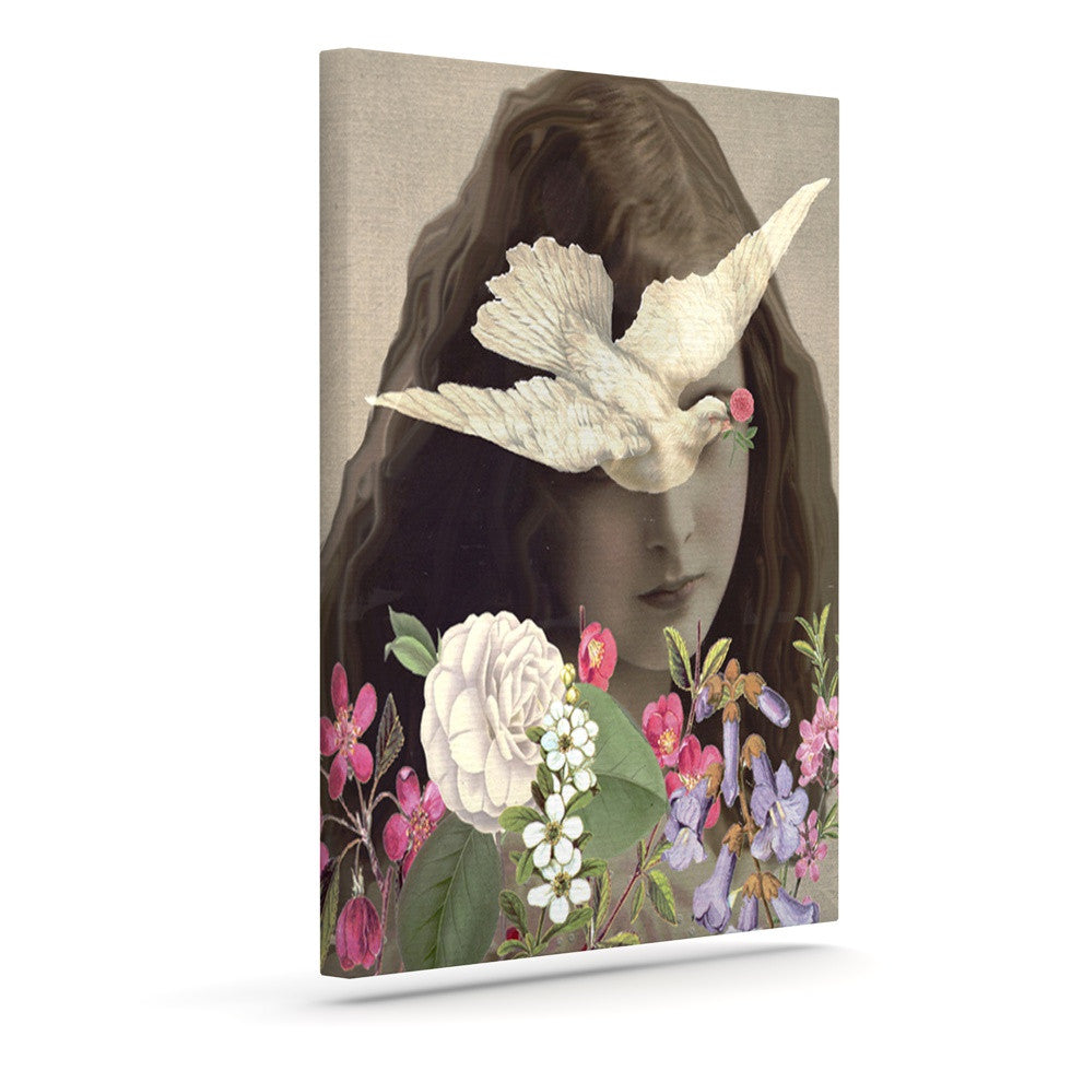 "Suzanne Carter ""Doves Eyes"" Outdoor Canvas Wall Art - KESS InHouse  - 1"