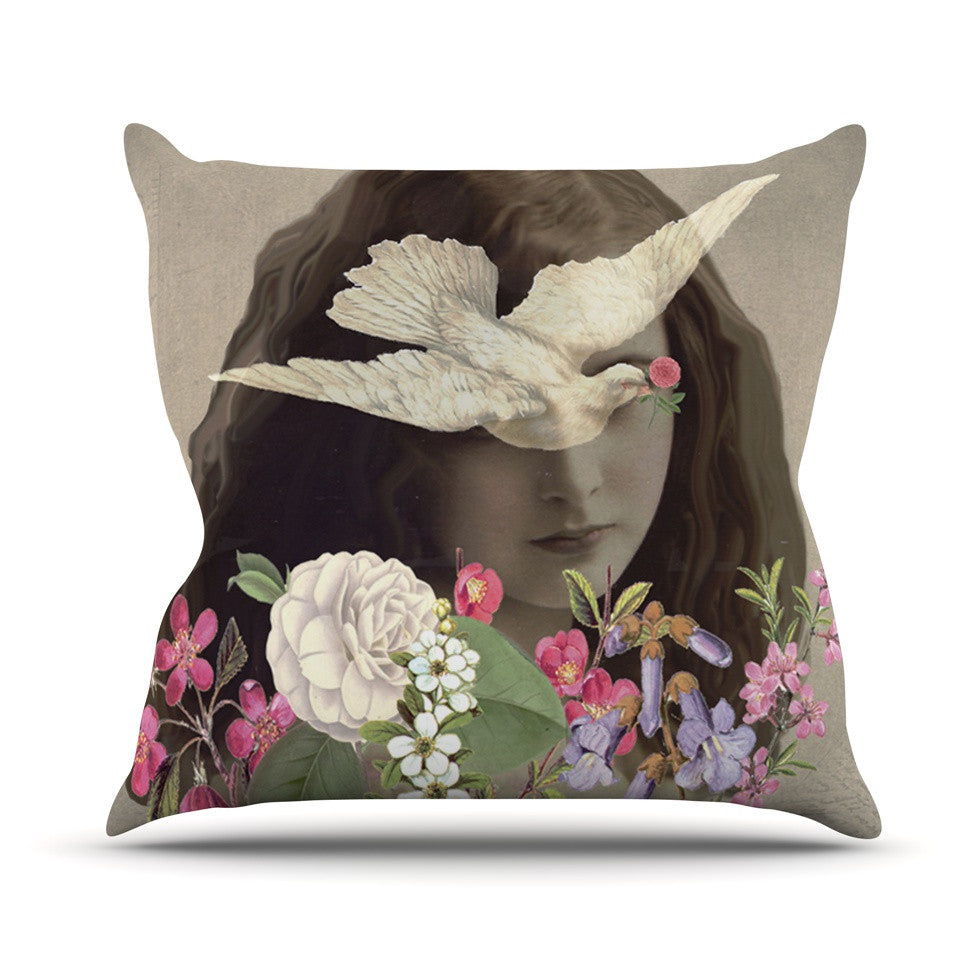 "Suzanne Carter ""Doves Eyes"" Throw Pillow - KESS InHouse  - 1"