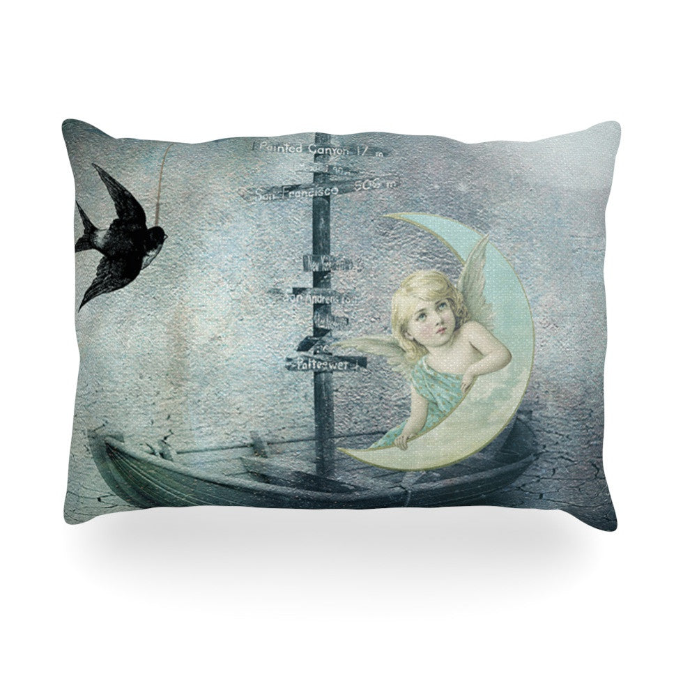 "Suzanne Carter ""Rain"" Oblong Pillow - KESS InHouse"